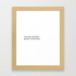 You have beautiful granite countertops© Framed Art Print