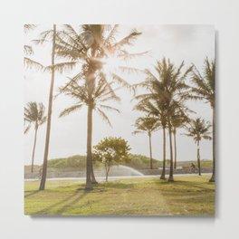 South Beach Morning - Miami Photography Metal Print