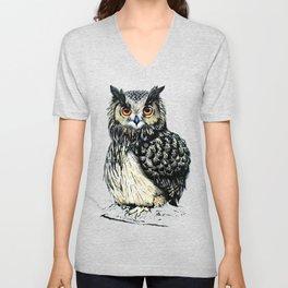 Eagle Owl Unisex V-Neck