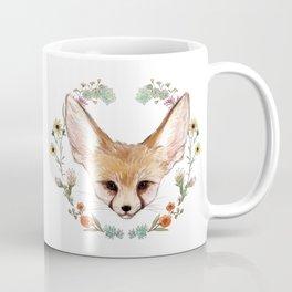 Fennec Fox Cub in Desert Wreath Coffee Mug