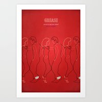 grease Art Prints featuring Grease by Fräulein Fisher