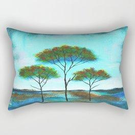 Blessings, Skinny Trees Rustic Art Rectangular Pillow