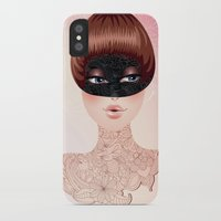 leah flores iPhone & iPod Cases featuring Flores by Pete K.
