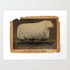 A Helium Filled Sheep Art Print