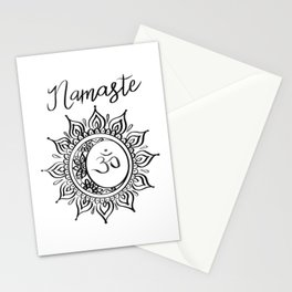 Namaste Blanc Stationery Cards