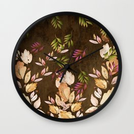 Just Leaves - Just Falling Leaves Wall Clock