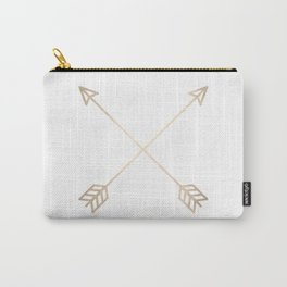 Adventure White Gold Arrows Carry-All Pouch