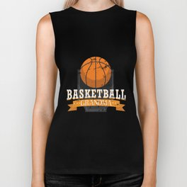 Basketball Grandma Gift For Grandson Biker Tank