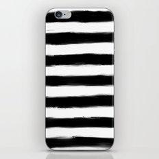 Black Paint Strokes Stripes iPhone & iPod Skin