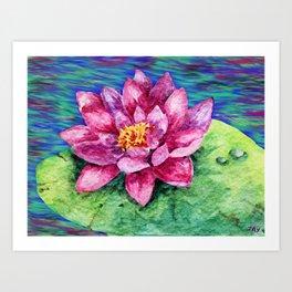 The Beautiful Lily Art Print
