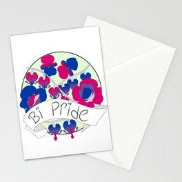 Bi Pride Flowers Stationery Cards