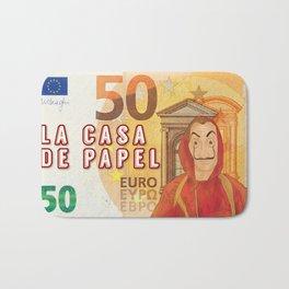 50 euros ticket Dali mask La casa de papel Bath Mat