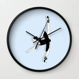 Blue Dancer Wall Clock