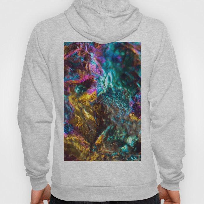 Rainbow Oil Slick Crystal Rock Hoody