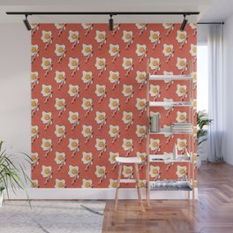 FAST FOOD / Egg and Bacon - pattern Wall Mural