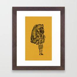 Grizzly Burden Framed Art Print
