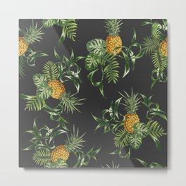 Pineapple repeat pattern. Metal Print
