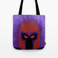 magneto Tote Bags featuring Magneto by Sprite
