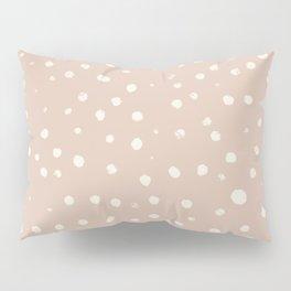 White Dots (tan) Pillow Sham