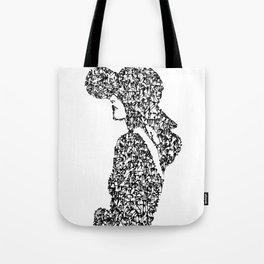 Kanji Calligraphy Art :woman's face #22 Tote Bag
