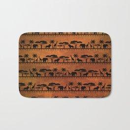 African Animal Pattern Bath Mat