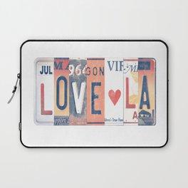 LOVE LA License Plate Art Laptop Sleeve