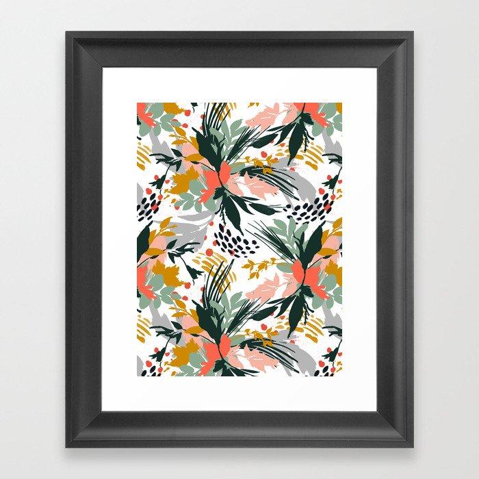 Botanical brush strokes I Gerahmter Kunstdruck