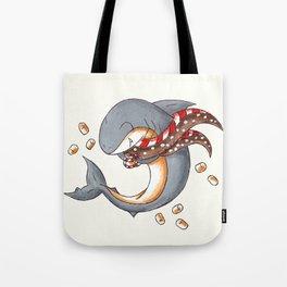 Hot Cocoa Shark Tote Bag