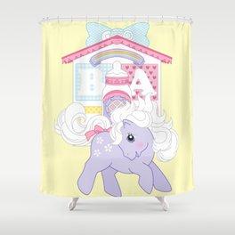 g1 my little pony baby blossom at lullabye nursery Shower Curtain