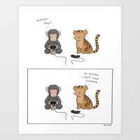 video games Art Prints featuring Video Games Are Awesome  by Liz Climo