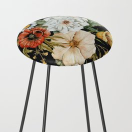 Wildflower Bouquet on Charcoal Counter Stool
