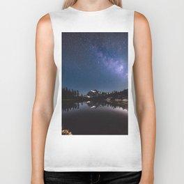 Summer Stars - Galaxy Mountain Reflection - Nature Photography Biker Tank