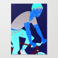 tattoos Canvas Prints featuring Bicycles & Tattoos by Matt Taylor