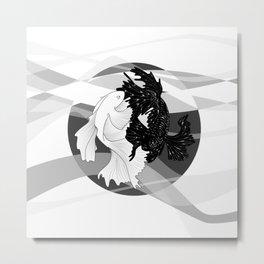 Betta VS. Betta Metal Print