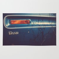 wisconsin Area & Throw Rugs featuring Wisconsin Flatbed by Memoirs of a Pilgrim - The Shop