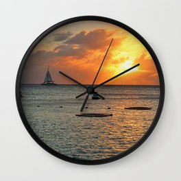 Sultry with a Twist Wall Clock