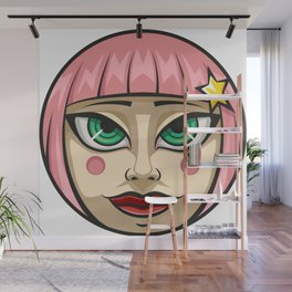Sweet Face Wall Mural