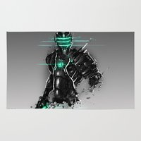 suit Area & Throw Rugs featuring Omega Suit by Benedick Bana
