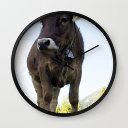 Cow on the pasture Wall Clock