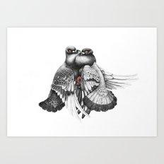 Pidgeons Art Print