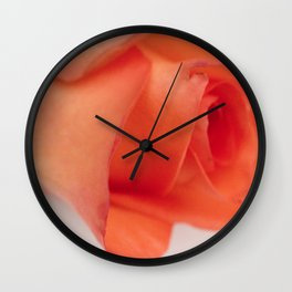 Orange Rose Wall Clock