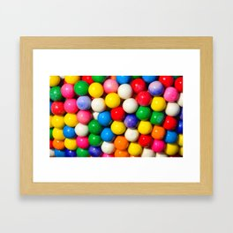 Bubble gumball love Framed Art Print