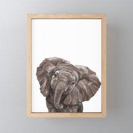 Baby Elephant Framed Mini Art Print