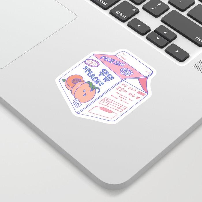 Peach Milk Sticker