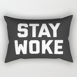 Stay Woke Quote Rectangular Pillow