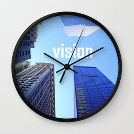 Vision and Buildings Wall Clock