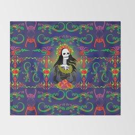 Novia De Los Muertos Throw Blanket