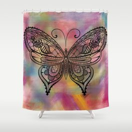 Butterfly Lacing Shower Curtain