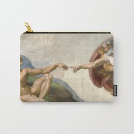 Michelangelo, The Creation of Adam, 1510 Carry-All Pouch