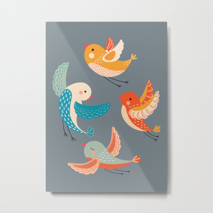 birds 4 Metal Print
